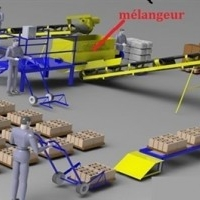 machine pour la fabrication de parpaing,brique,hourdis
